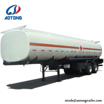 Shandong factory AOTONG brand 50000 liters oil/petrol/fuel tank semi trailer, fuel tanker trailer for sale