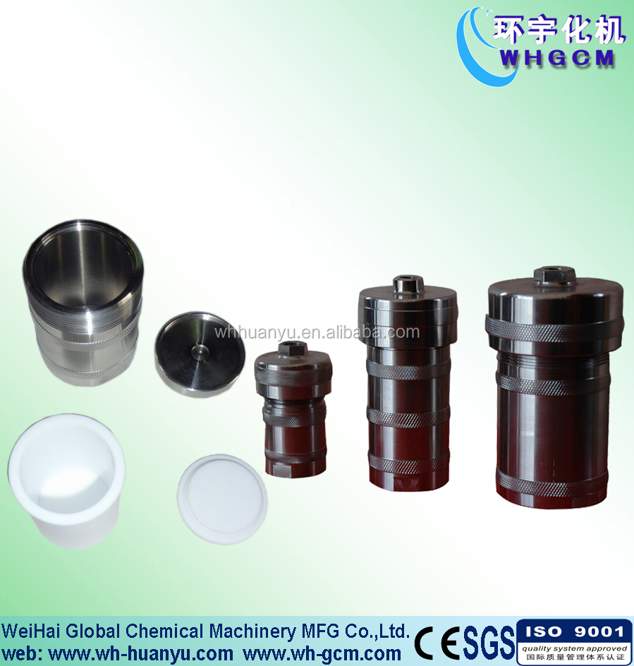 20ml to 2000ml teflon lined hydrothermal synthesis autoclave reactor