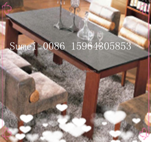 HX-CZ 01 wood meterial 4 legs dining table modern pvc finished kitchen furniture