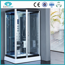 2017 Constar factory computer controlled steam shower room,enclosed prefab portable mobile steam bathroom