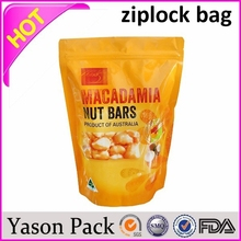YASON plastic ziplock food bag with logo clear plastic zippered storage bag zip bags for fresh fruits