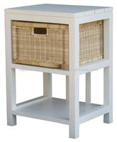LT 001 RT Nat 1 Drawer Natural Lamp Table Rattan Furniture