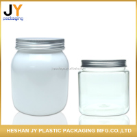 High Quality empty PET cosmetic packaging jar clear plastic loose powder cream jar hair mask cosmetic jar