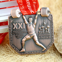 Jiahong Custom Metal sports weightlifting award medal of finisher