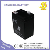 Energency light deep cycle battery, lead acid storage battery 6v4ah aintenance free rechargeable battery