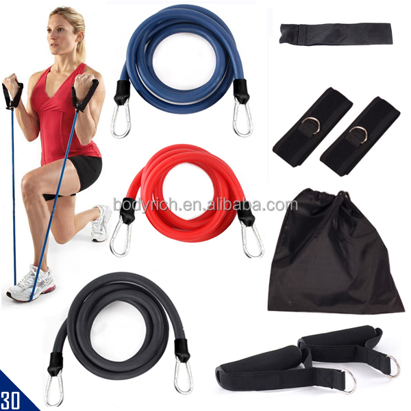 Gym Power Training Band Heavy Duty Resistance Tubes Kit