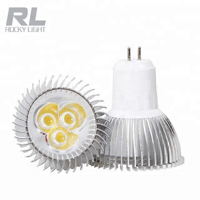 Equivalent 35W MR16 Halogen Lamp 220V Dimmable Sharp COB 3W Christmas Decoration LED Spotlight