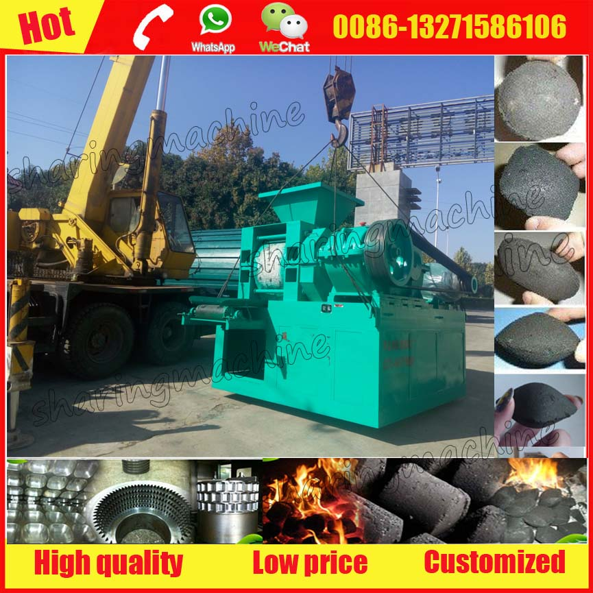 Over 95% briquetting rate white coal briquette manufacturing machine for export sale