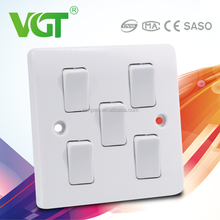 The Middle East Low maintenance cost dimmer light switch 6 gang