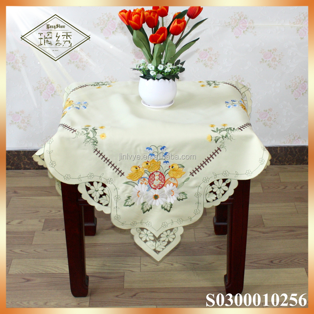 Easter holiday Pretty embroidery chicken tablecloth