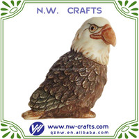 Resin Kingdom Baldwin Bald Eagle Pot Belly Box Figurine
