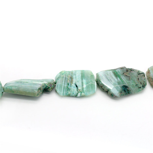 Wholesale Nugget Green Natural Amethyst Gemstone Loose Beads