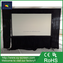XYSCREEN 120 inch rear projetion fast fold projector screen with black curtain