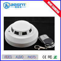 Besnt Remote Control mini dv sd card Smoke Detector Camera ceiling mount 720p hidden camera BS-794P