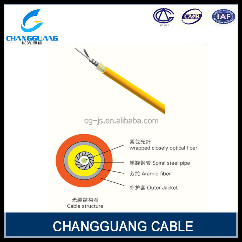 High quality single core OM3 fiber armouring communicate jumper cable fiber optic cable