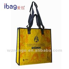 Nice printed pp woven shopper bag with lamination