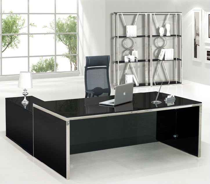 Glass Office TableOffice Executive Glass Table ModernHigh End