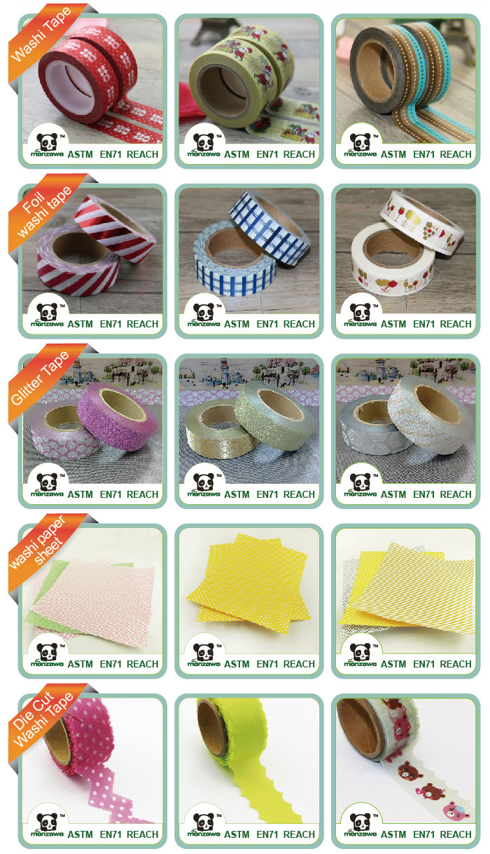 Manzawa spring paint polka dot stripe 30mm washi tape