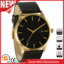 New style mens slim style fashion stainless steel back watch case no logo watches