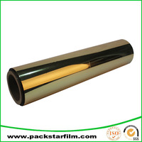 Customzied clear gold metalized pet film for Flexible packaging