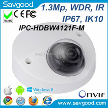 Dahua network IPC-HDBW4121F-M 1.3MP WDR vandal-proof Wedge Dome Vehicle IP camera