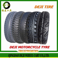 DEJI factory price high quality three wheels motorcycle tyres tricycle tire 4.00-8