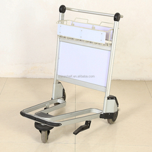 New aluminum alloy white airport cart airport luggage cart
