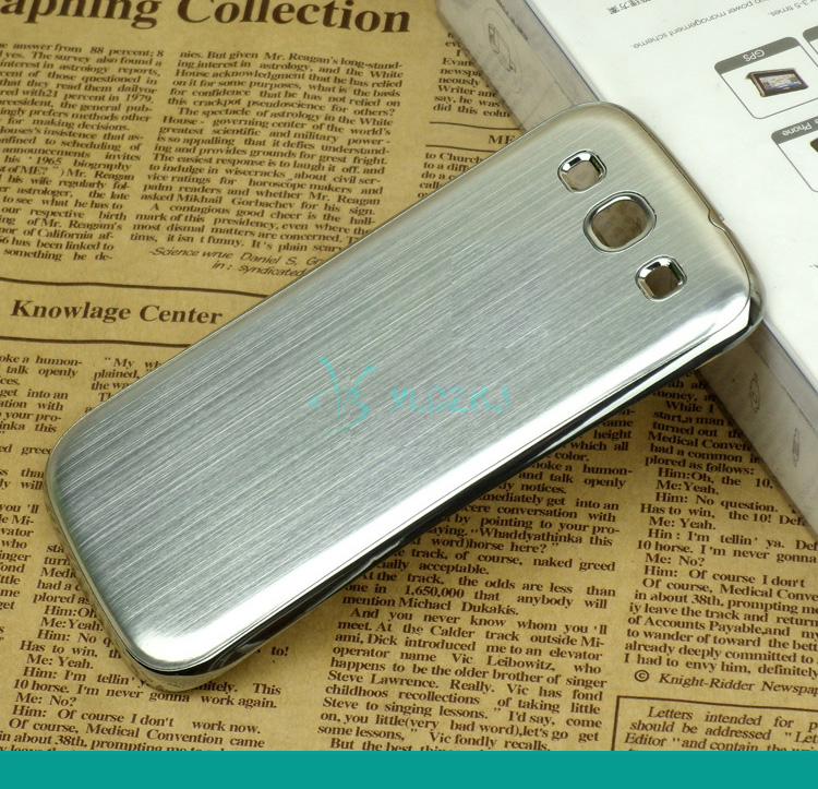 For S3 Luxury Aluminum Case For Galaxy S3 Fashion Gold Silver Metal Mobile Phone Battery Back Cover Cases For Samsung S3 i9300