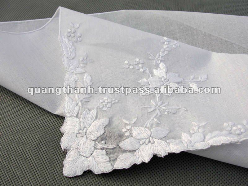hand embroidery handkerchief