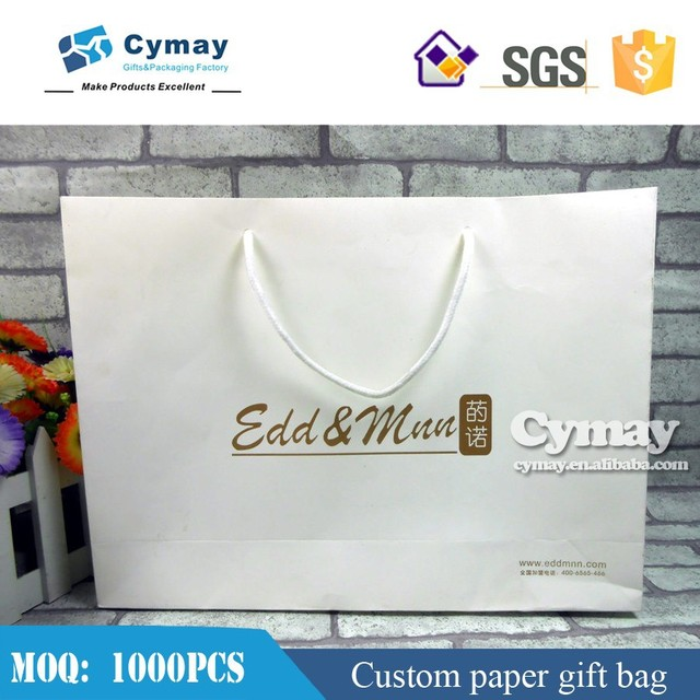 Whole sale paper shopping bag custom printed kraft soap bag