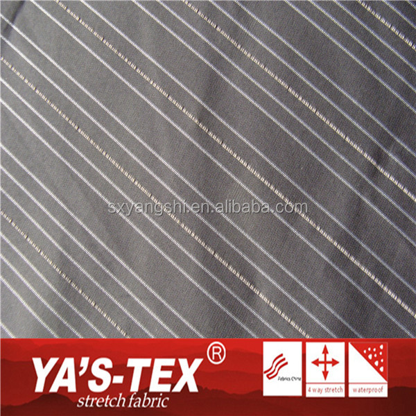 Fashion Waterproof And Breathable 4 Way Stretch Stripe Fabrics 100% Dri Fit Soft Woven Printed Fabric For Garment