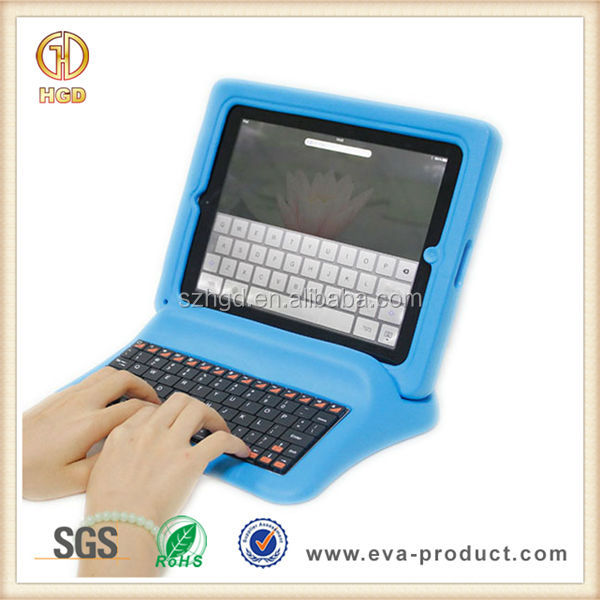 Primary School Students Friendly EVA Wireless Keyboard Case for iPad 3