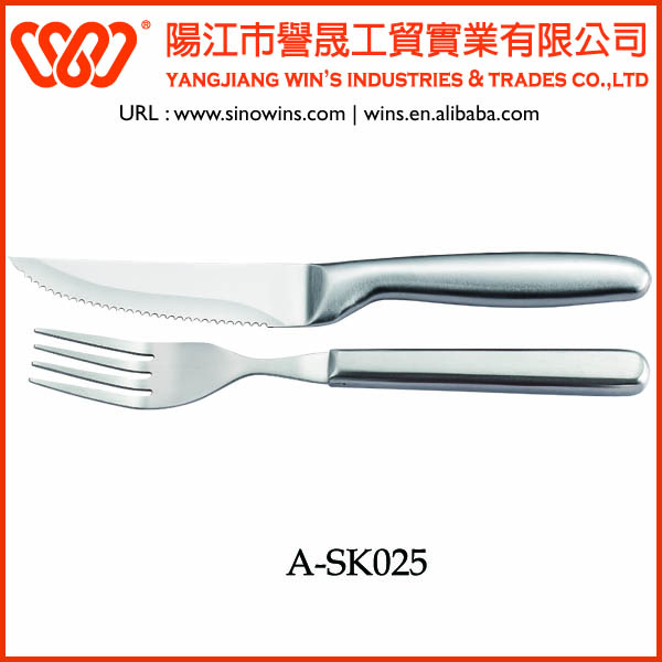Stainless Steel Steak Knife and Fork