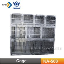 KA-508 Heavy duty Stainless Steel Modular Dog Cage with wheels
