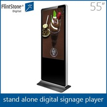 Flint Stone 55 inch floor stand pos merchandise display oled displays LCD advertising display