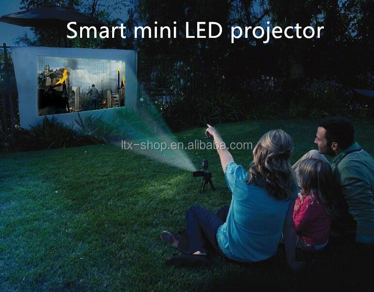 Smart without screen TV mini LED projector Android 4.4.4 Mali 400 HD 720p mini projector