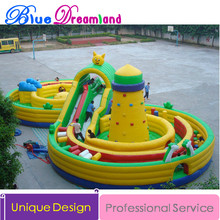 Giant high quality PVC Outdoor Inflatable trampoline inflatable slides trampoline playground