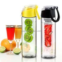 eco friendly 25oz detox water bottle infuser 2016 new fruit infuser water bottle 800ml plastic raw material