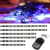 Kingshowstar Motorcycle ATV 8 Strip RGB LED Kit Remote Controller Multi Color Neo Light motorcycle led