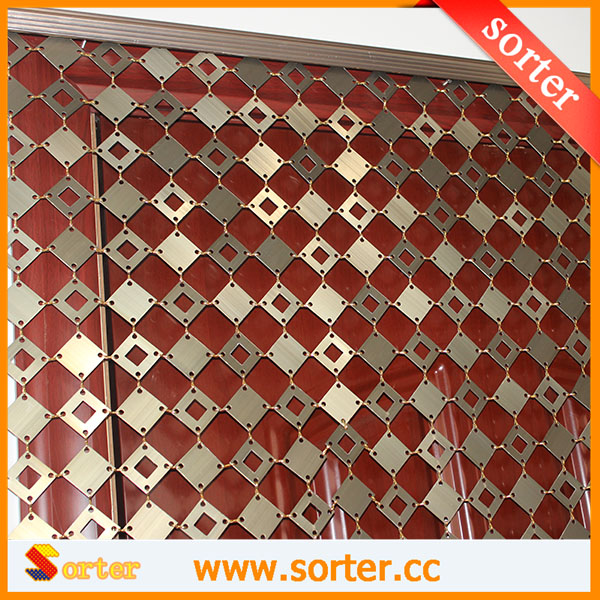 Decorative aluminum panels links wall drapery metal curtain