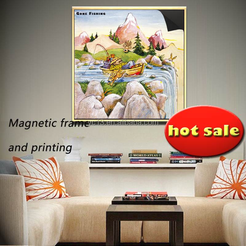 updating art instantly magnetic frame & crazy fisherman 1013-138 with print magnetic paintings