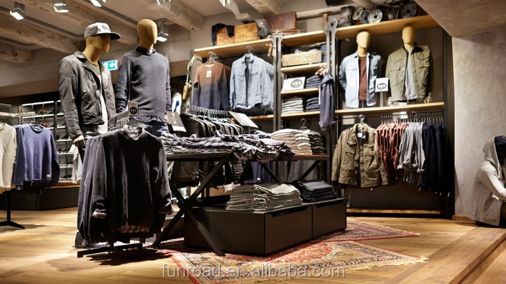 Furniture for clothing store and men clothing store furniture