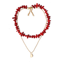 Top Quality Natural Italian Red Coral Beads Necklace Round Shape Necklace Beads Luxury Necklace Women