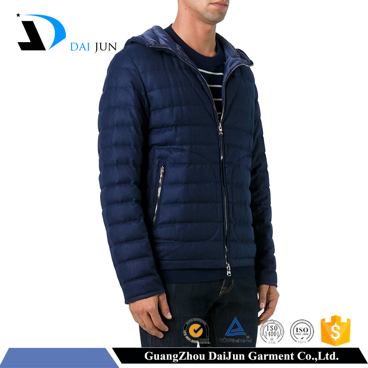 Factory daijun fashion new style plus size navy blue custom made men jackets winter