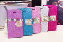 Crystal Rhinestone Phone Wallet Case for iPhone 4s, for iPhone 4s Case