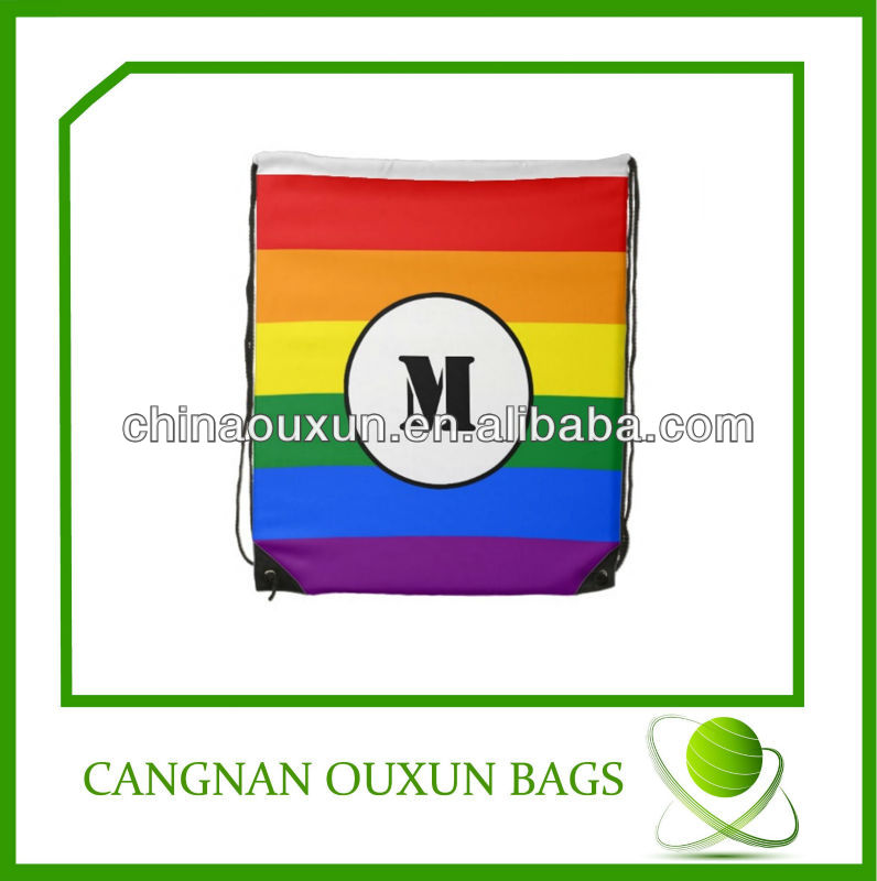 high quality customized nylon cheap drawstring pouch bags