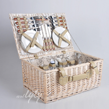 High quality large wicker picnic basket set for 4 person wholesale