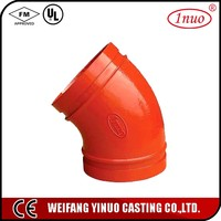 45 degree pipe elbow ductile iron for fire protection system