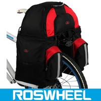 2015 new design bicycle rear rack bag,black bike carry bag,wholesale bike travel bag saddle chair