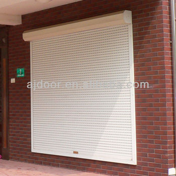 Aluminum window roll up hurricane shutters buy electric hurricane shutters automatic hurricane for Roll up window shutters exterior